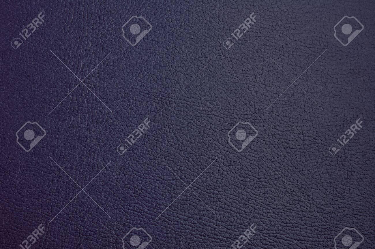 faux leather texture. dark blue color. macro photo - 145388889