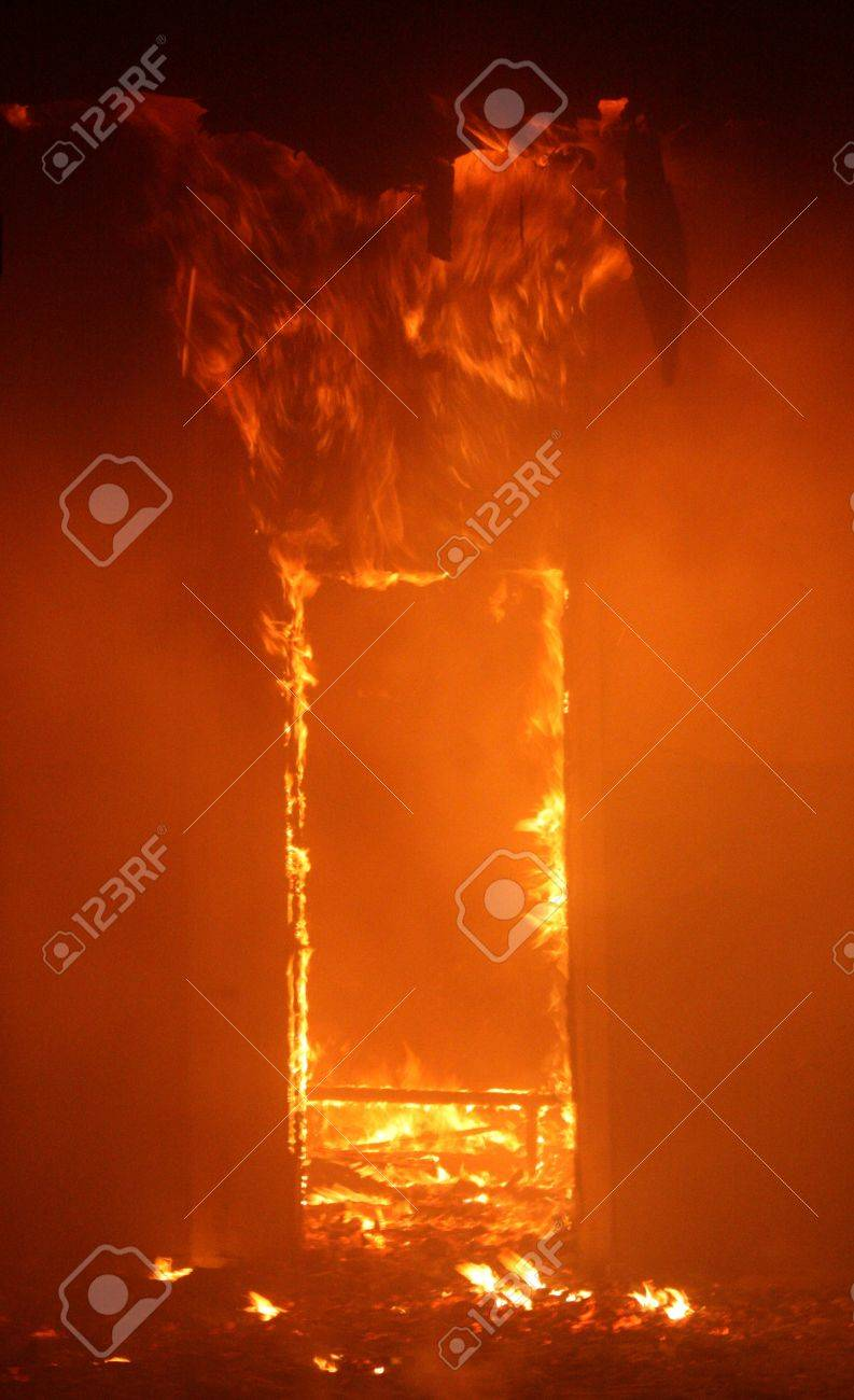 Fire in Building Stock Photo - 9739912