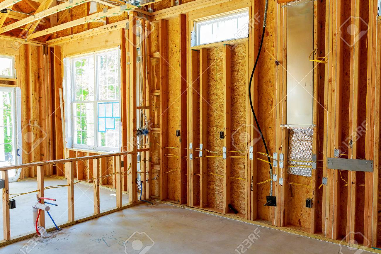 The Frame Building Or A House With Basic Electrical Wiring Stock Photo Picture And Royalty Free Image Image 79011396