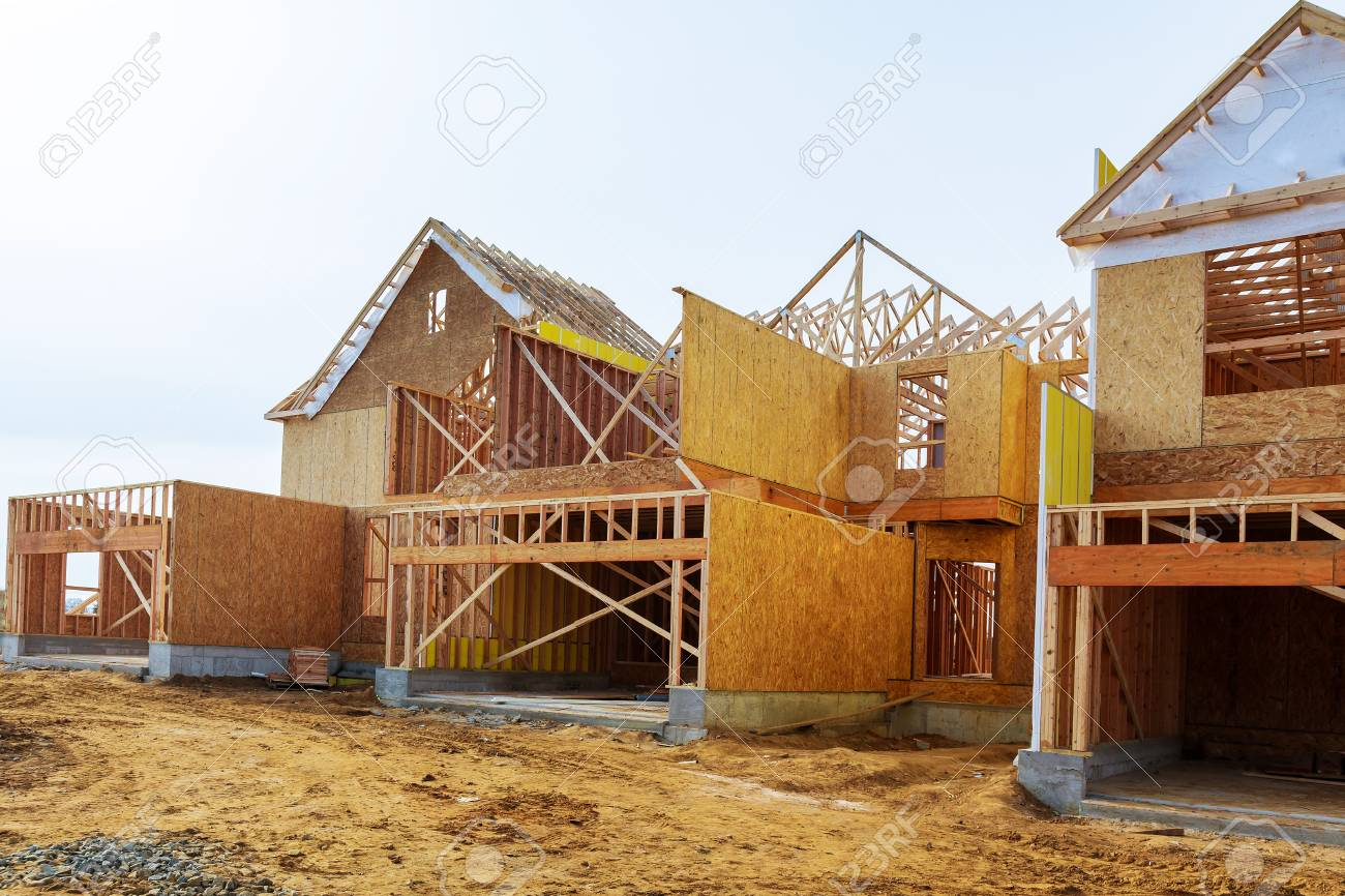 New Construction Of A House Framed New Construction Of A House ...