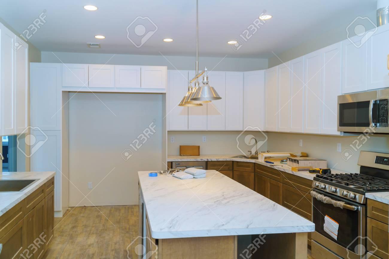 Kitchen cabinets installation Blind corner cabinet, island drawers..