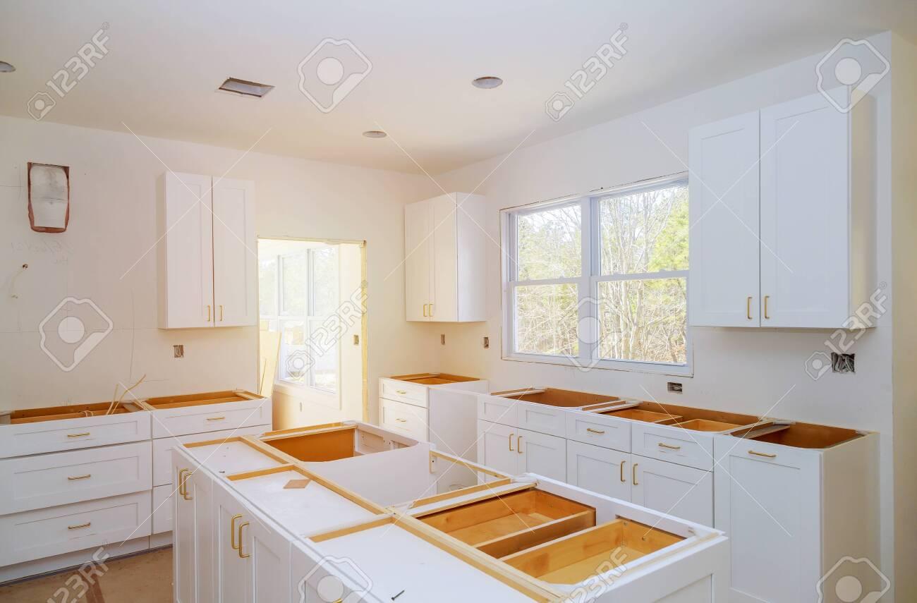 Home Improvement Kitchen Preparing To Install Custom New Kitchen