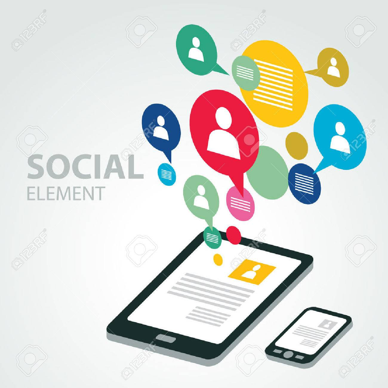 social icon group element - 55380956
