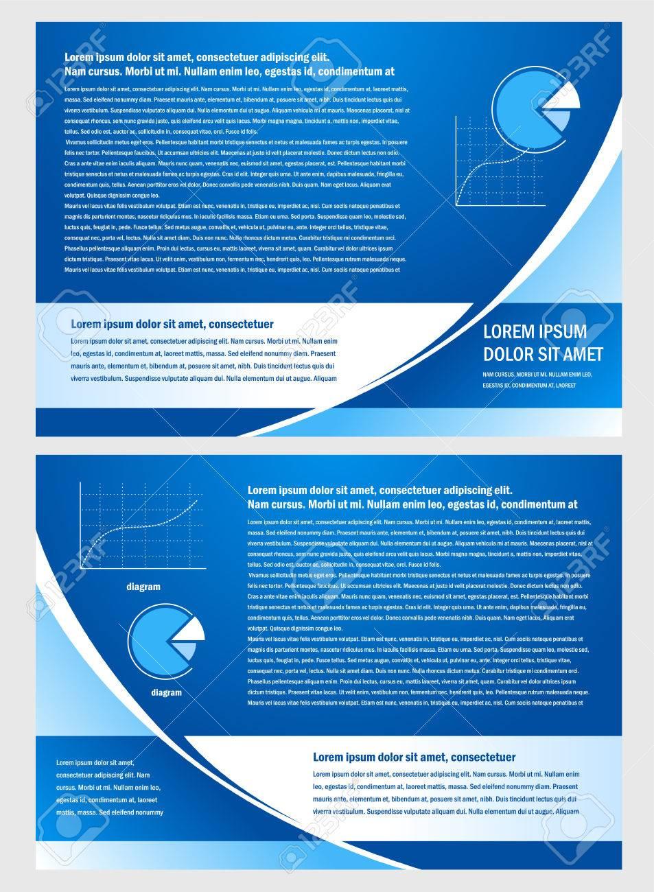 brochure folder info diagram design vector blue - 55381038