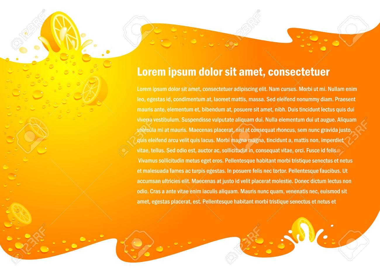 juice fruit drops liquid orange flyer background no transparent - 55381040
