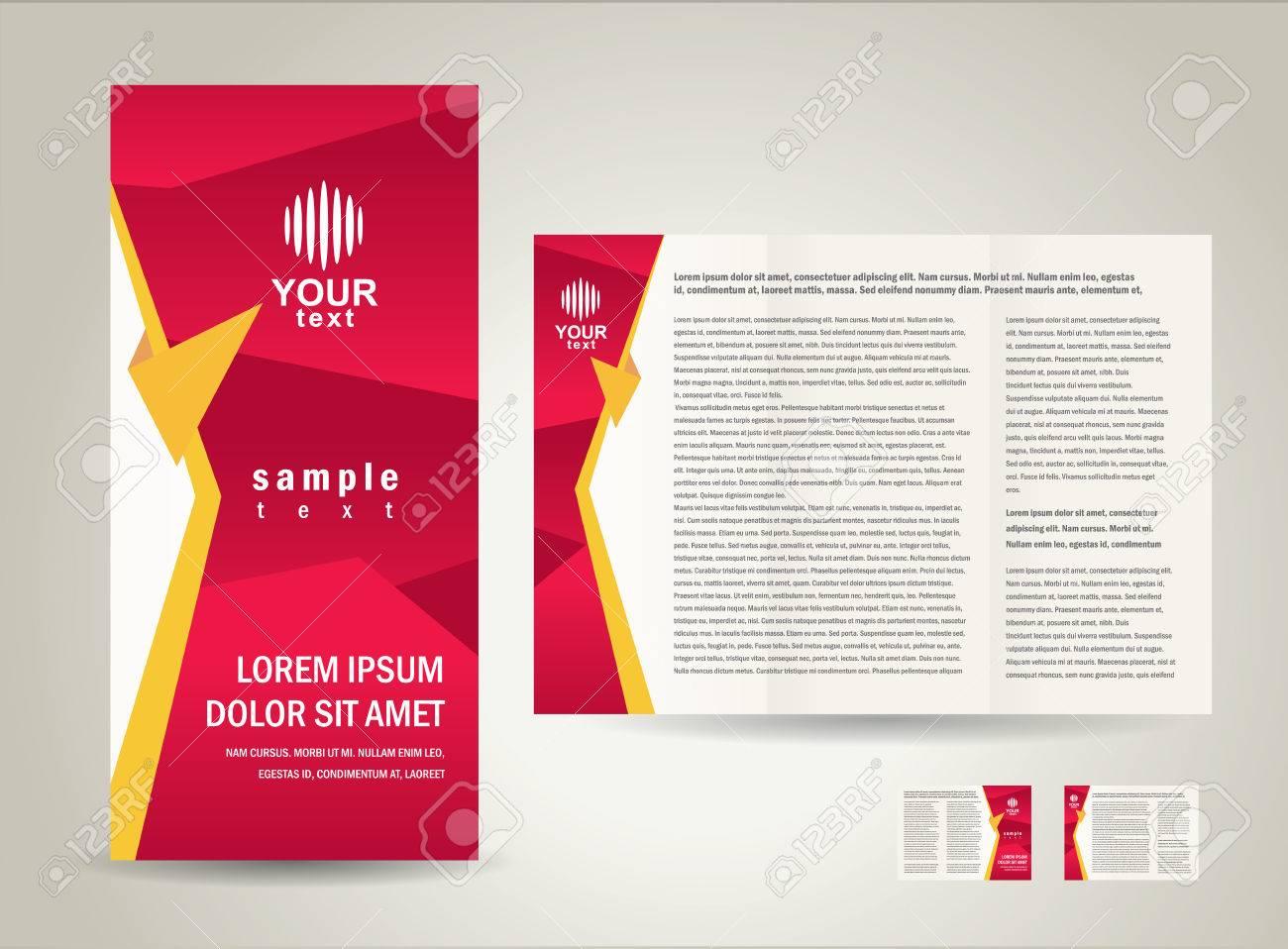 brochure folder design / cmyk, no transparent - 55381043