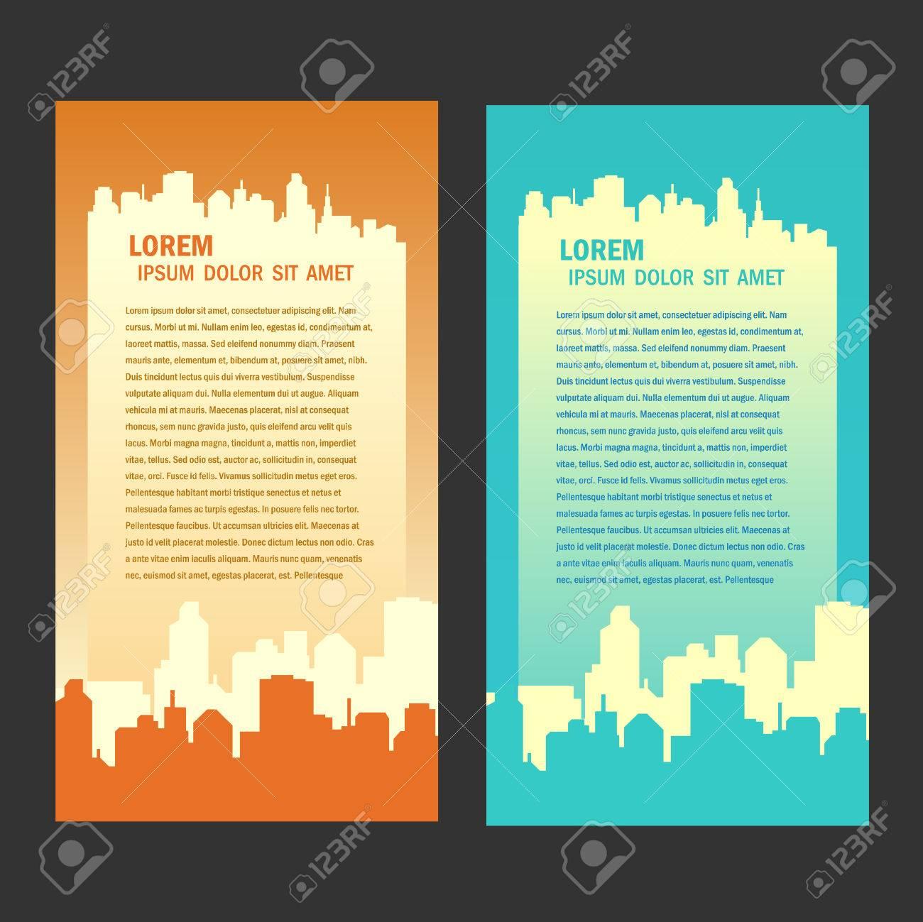 city background flyer - 55381045