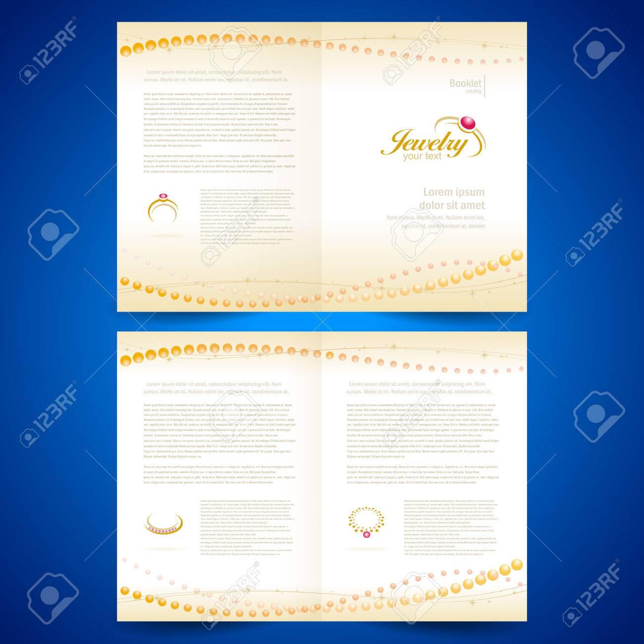 booklet catalog brochure folder jewelry bijouterie rings gold jewellery - 55381053