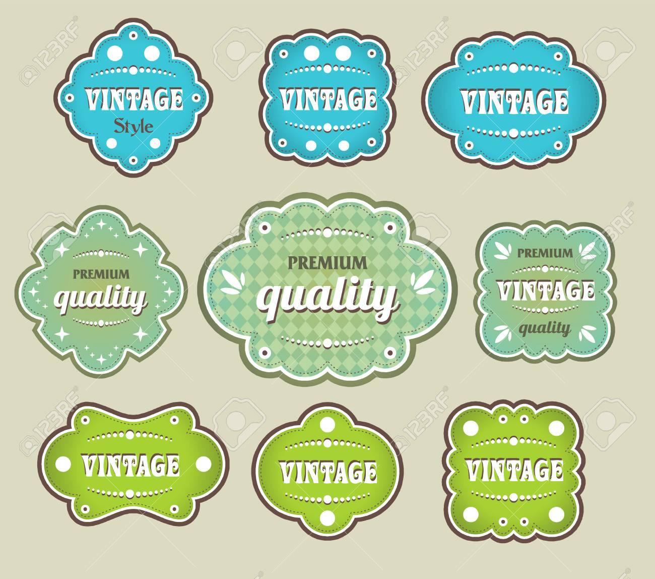 vintage labels retro style set - 55381058