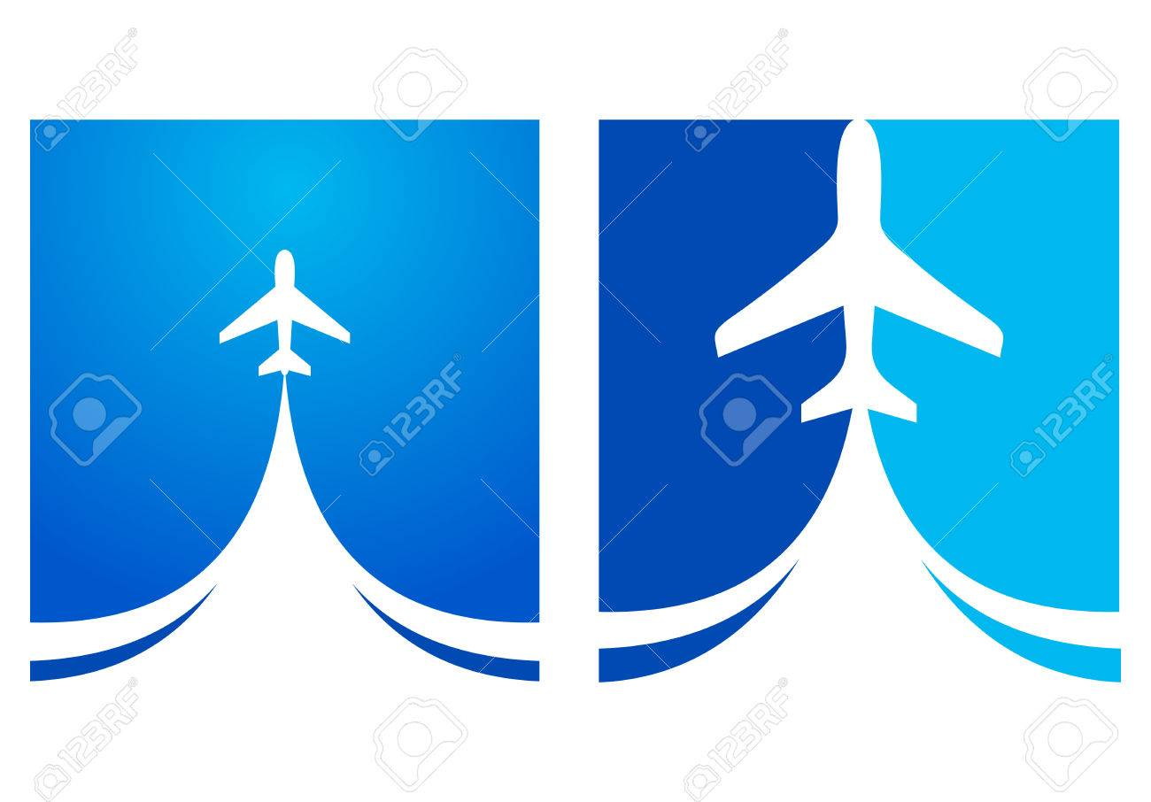airplane flight tickets air fly cloud sky blue travel background takeoff - 55381067