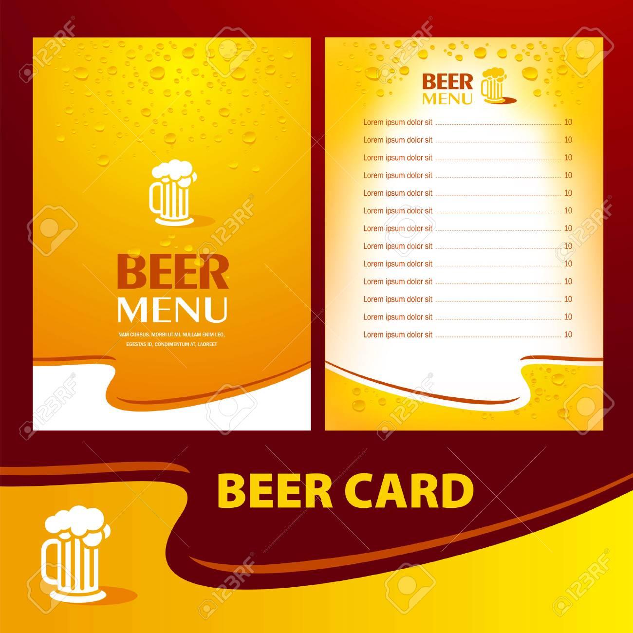 menu beer card / cmyk, no transparent - 55381069