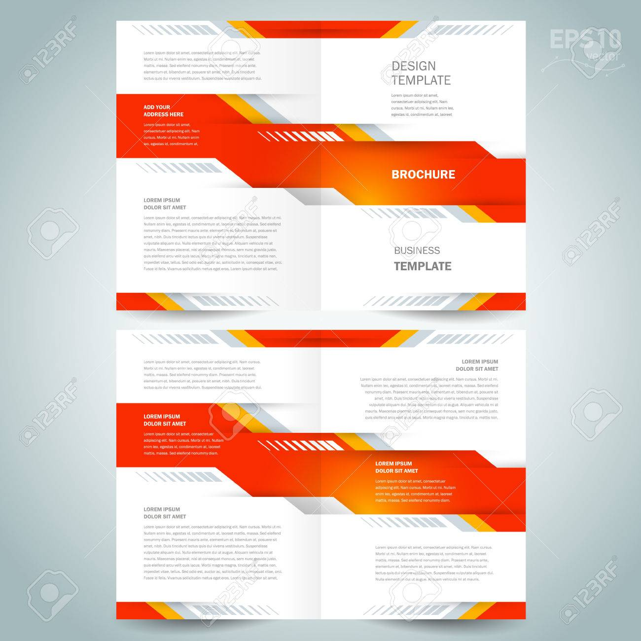 brochure design template vector booklet geometric abstract tech - 55381073