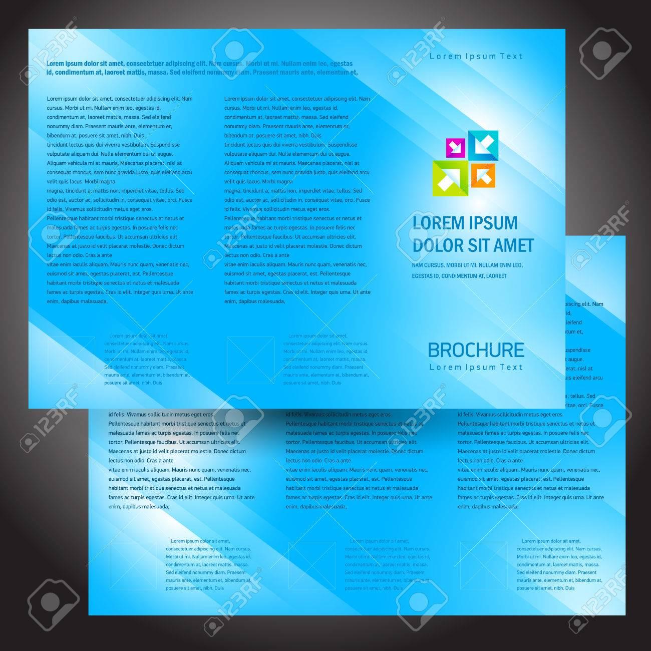brochure folder colorful design vector blue - 57696643