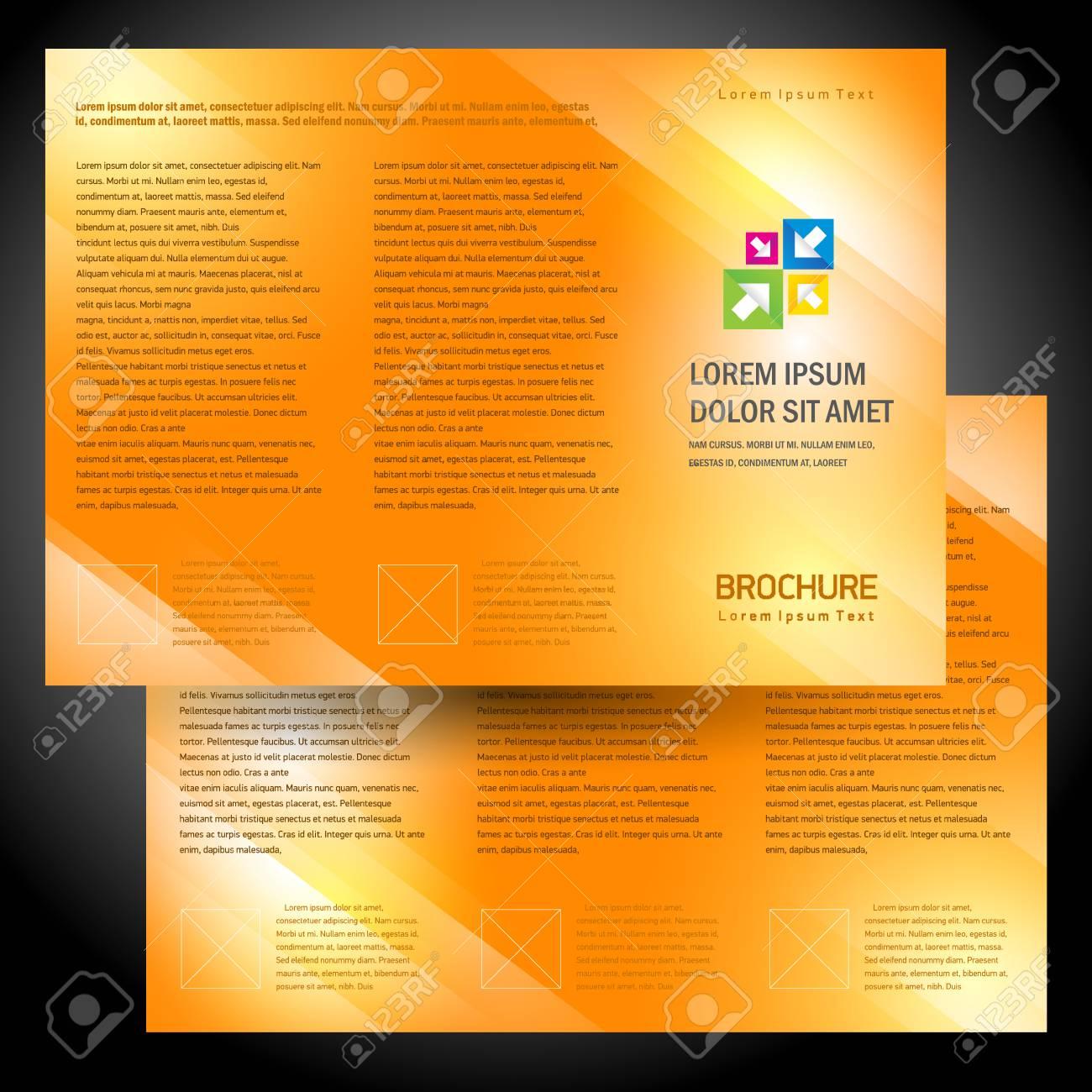 brochure folder colorful design vector orange - 57743072