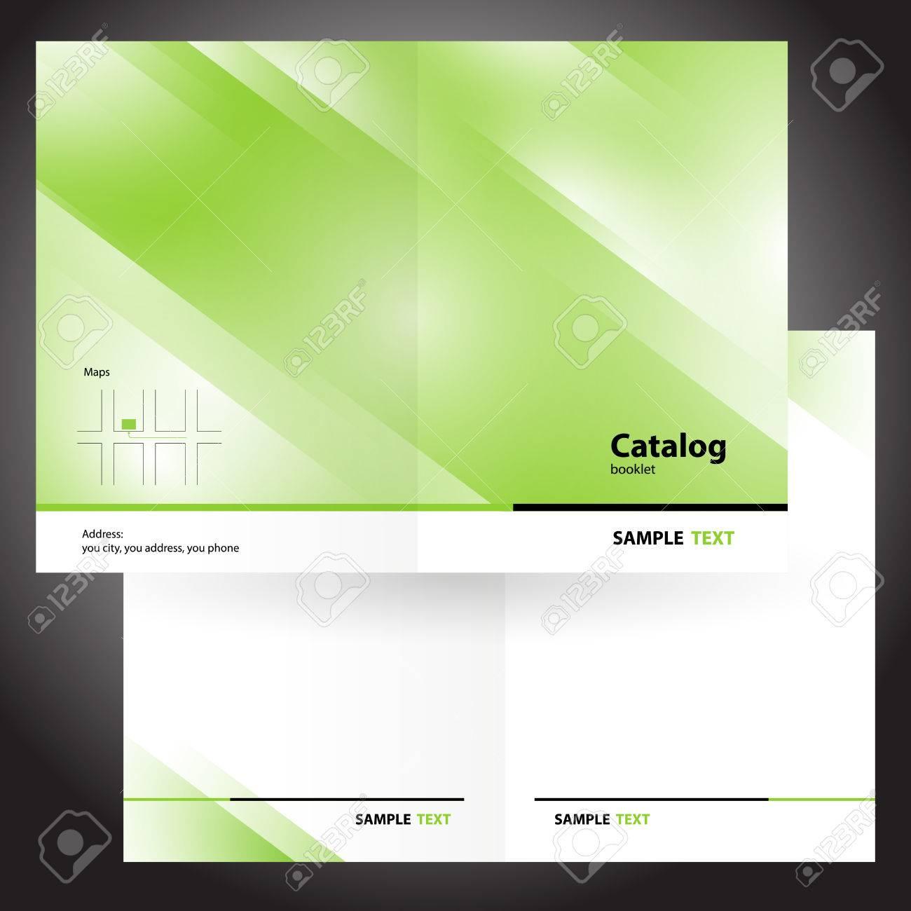 catalog booklet folder brochure colorful design vector green - 57743241