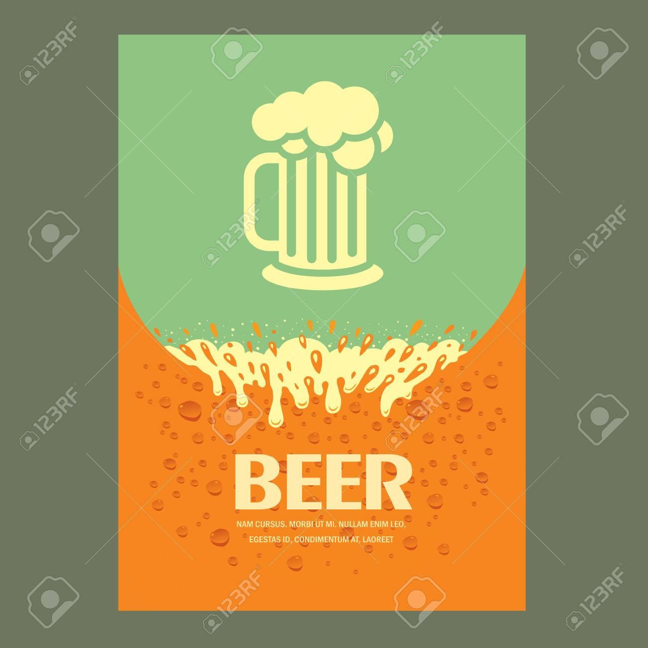 beer cover card menu splash - 57743247