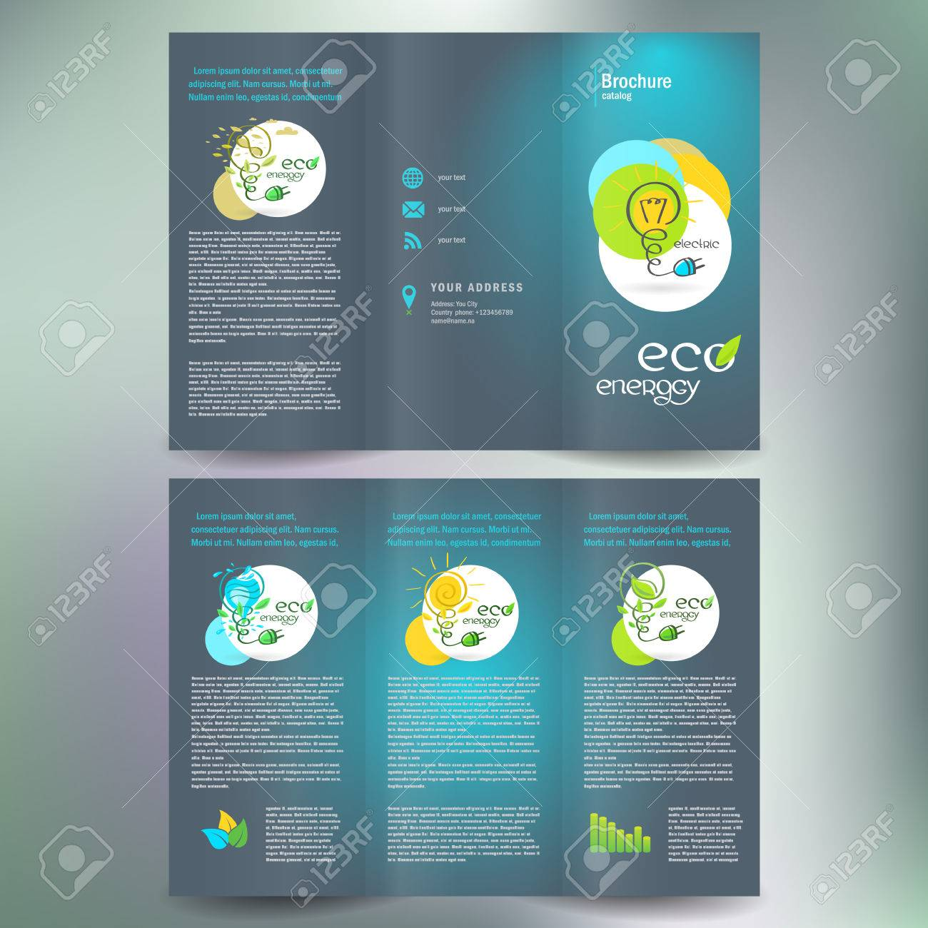 eco energy alternative brochure folder leaflet - 57743254
