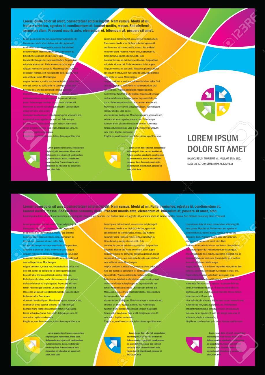 brochure folder circle colorful element design - 131452094