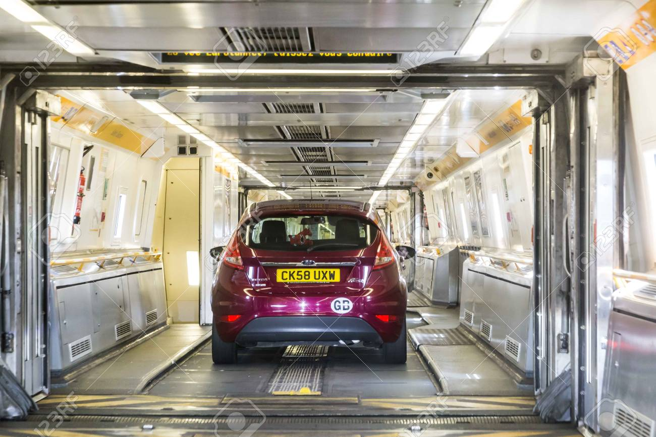 Channel Tunnel England June 4 2017 Cars Boarding The High