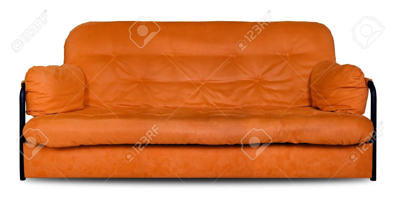 Muebles Tapizados - Naranja Moderno Hecho De Tela El Sofá Diván ...
