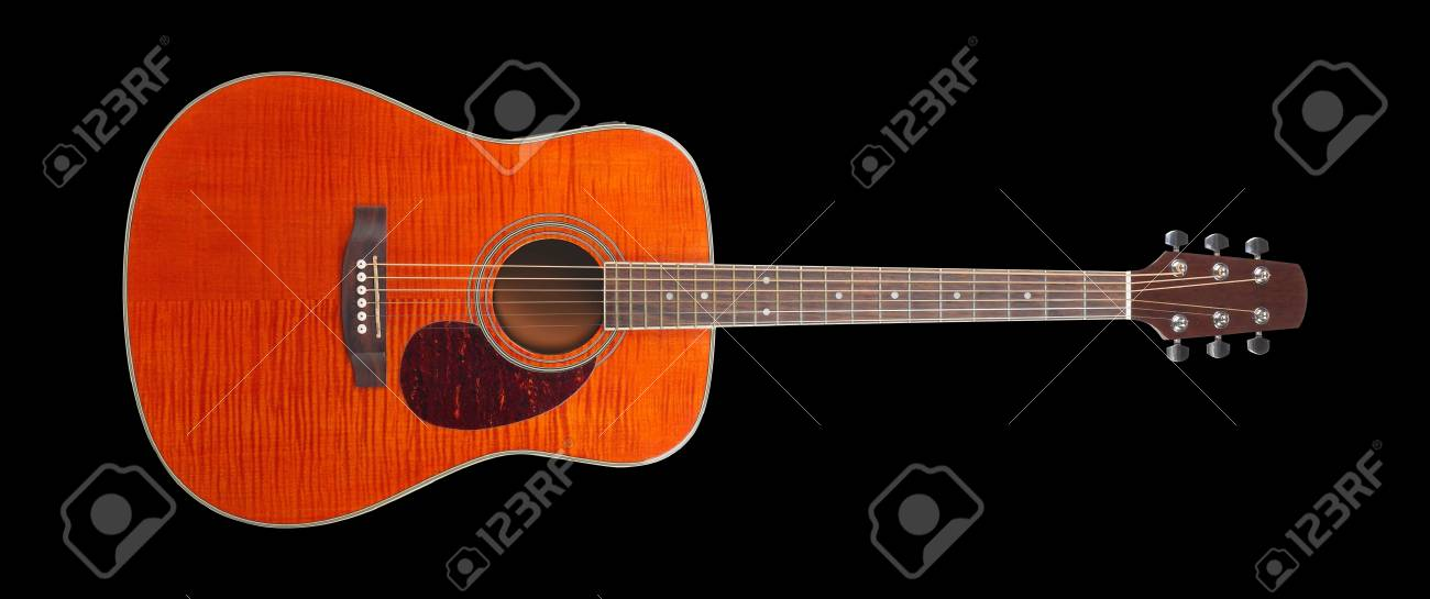 Musical Instrument Orange Flame Maple Acoustic Tiger Maple Stock