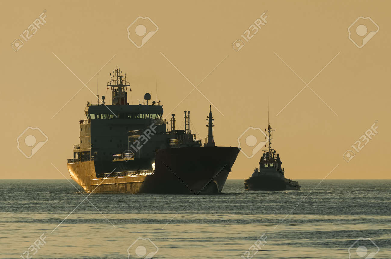 LPG TANKER - Ship is sailing to the sea port - 170990786