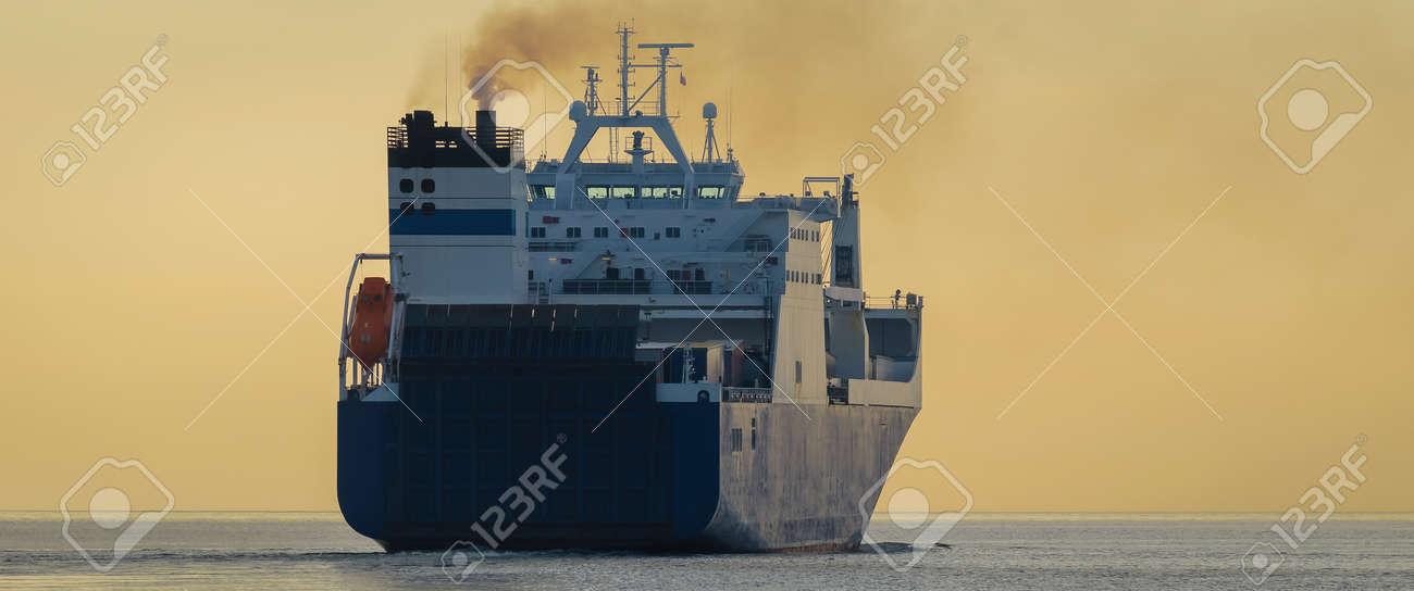 MERCHANT VESSEL - Ship sails to the sea - 170993475