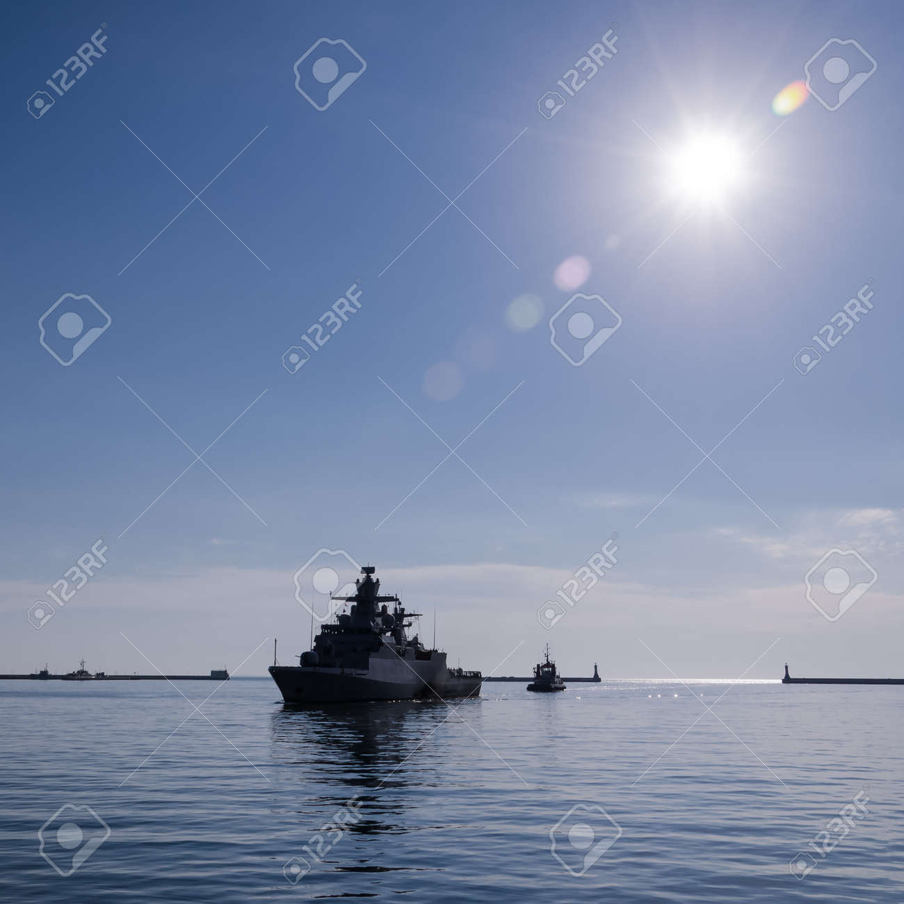 WARSHIP - A German Navy corvette is sails to the port - 171214271