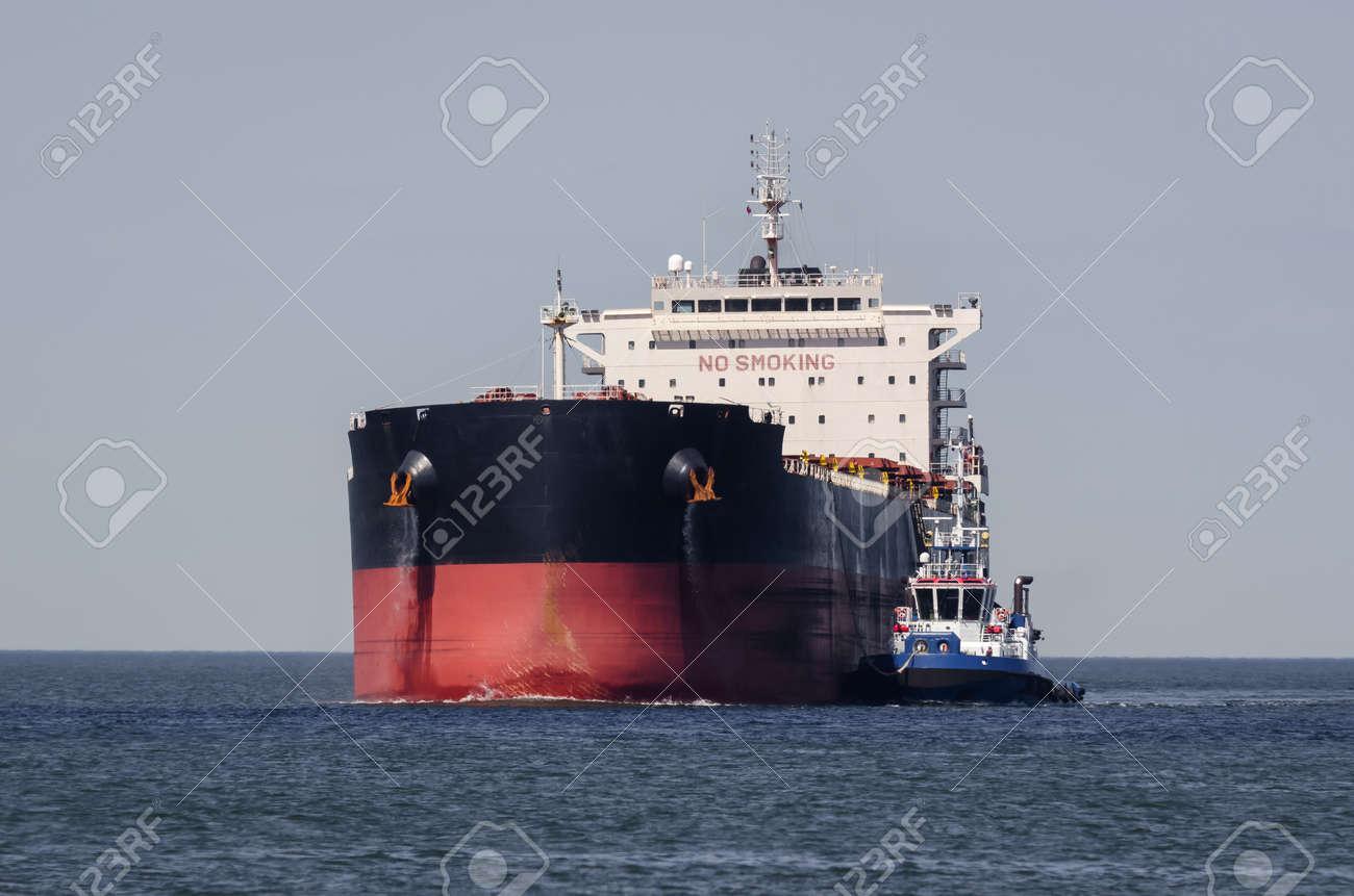 MARITIME TRANSPORT - Merchant vessel sail on waterway - 171859242