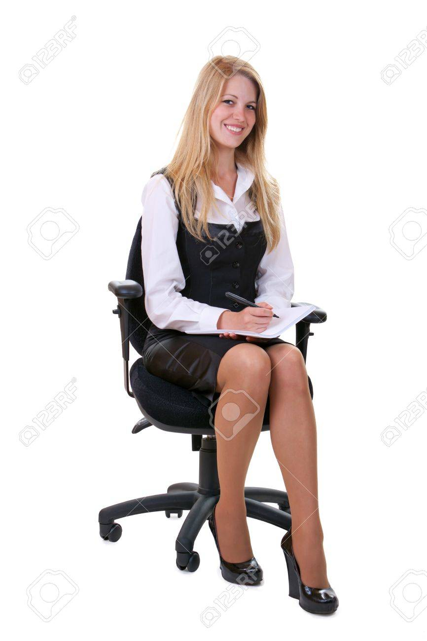 Young smiling business woman isolated over white background Standard-Bild - 11235761