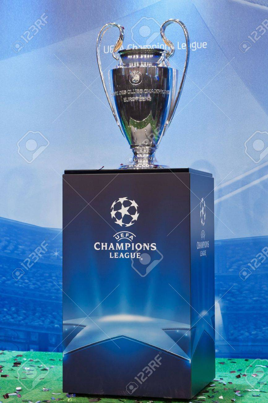 uefa champions league trophy on a blue background stock photo picture and royalty free image image 12572617 uefa champions league trophy on a blue background