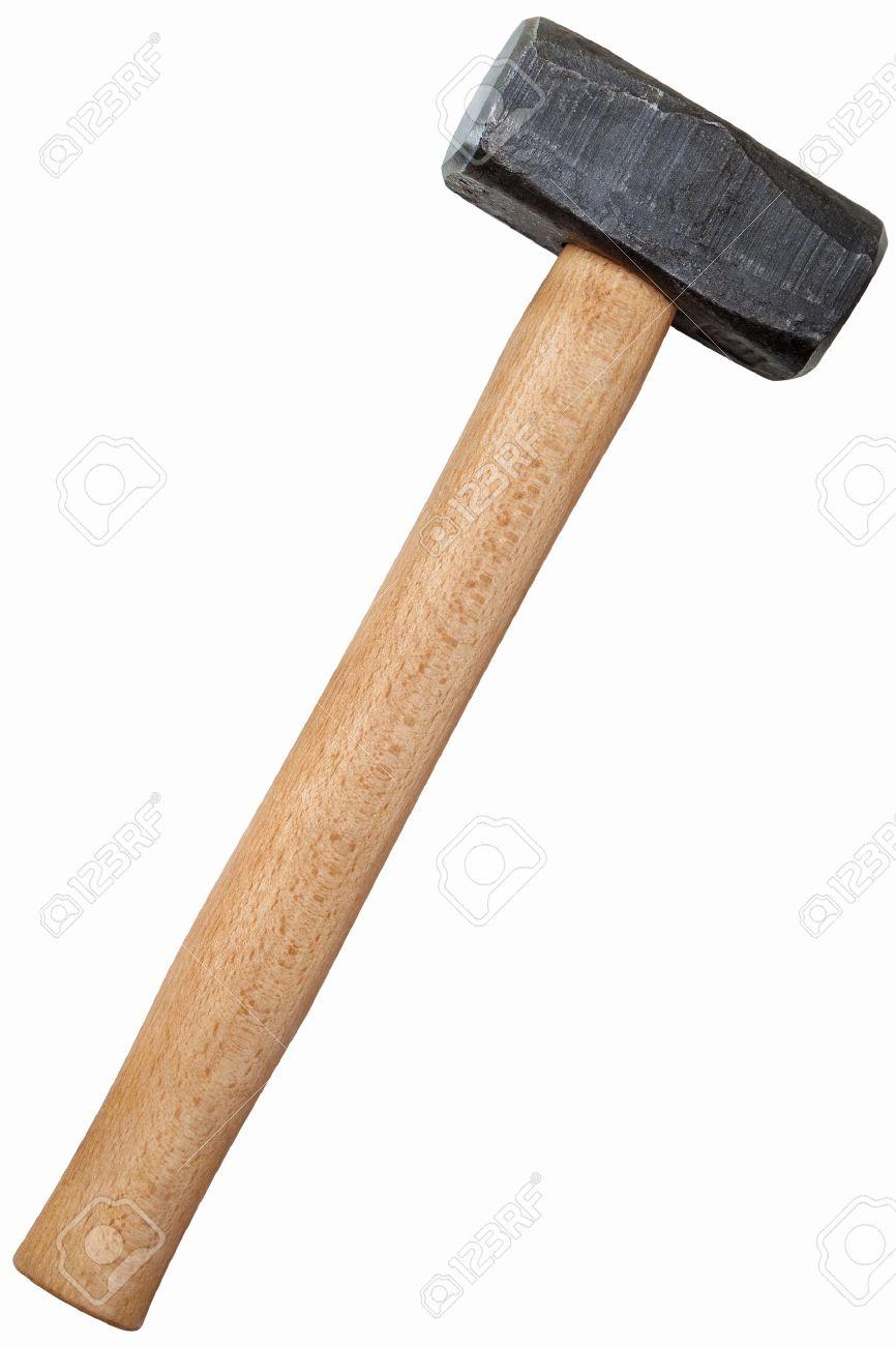 Metal sledge hammer isolated on white background Standard-Bild - 16651647
