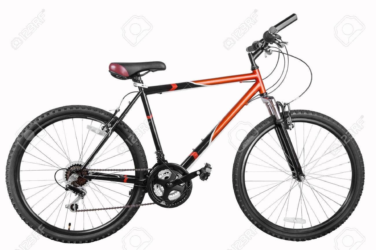 Mountain bicycle bike isolated on a white background with clipping paths, high resolution stitched from five shoots - 26786532