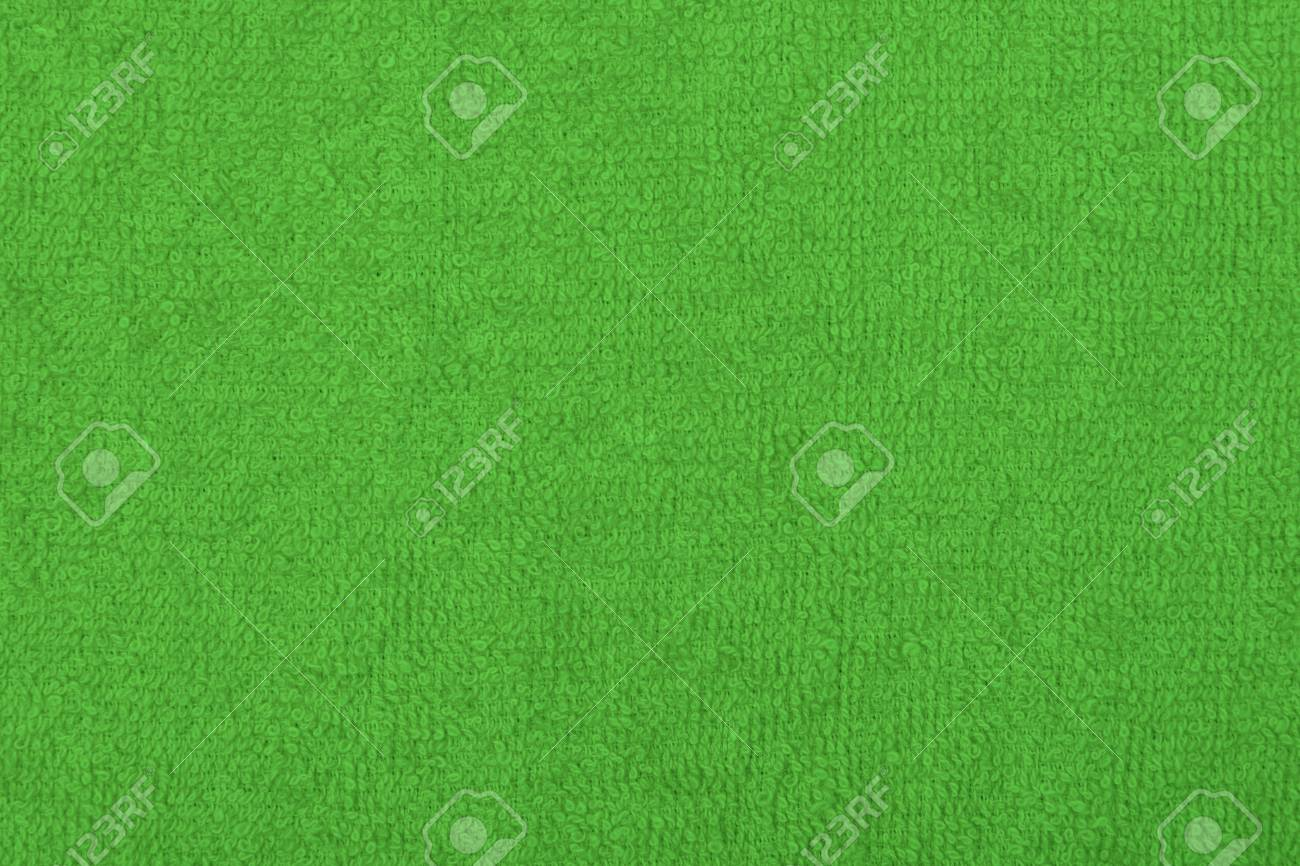 Abstract background with green texture, terry cloth fabric, full
