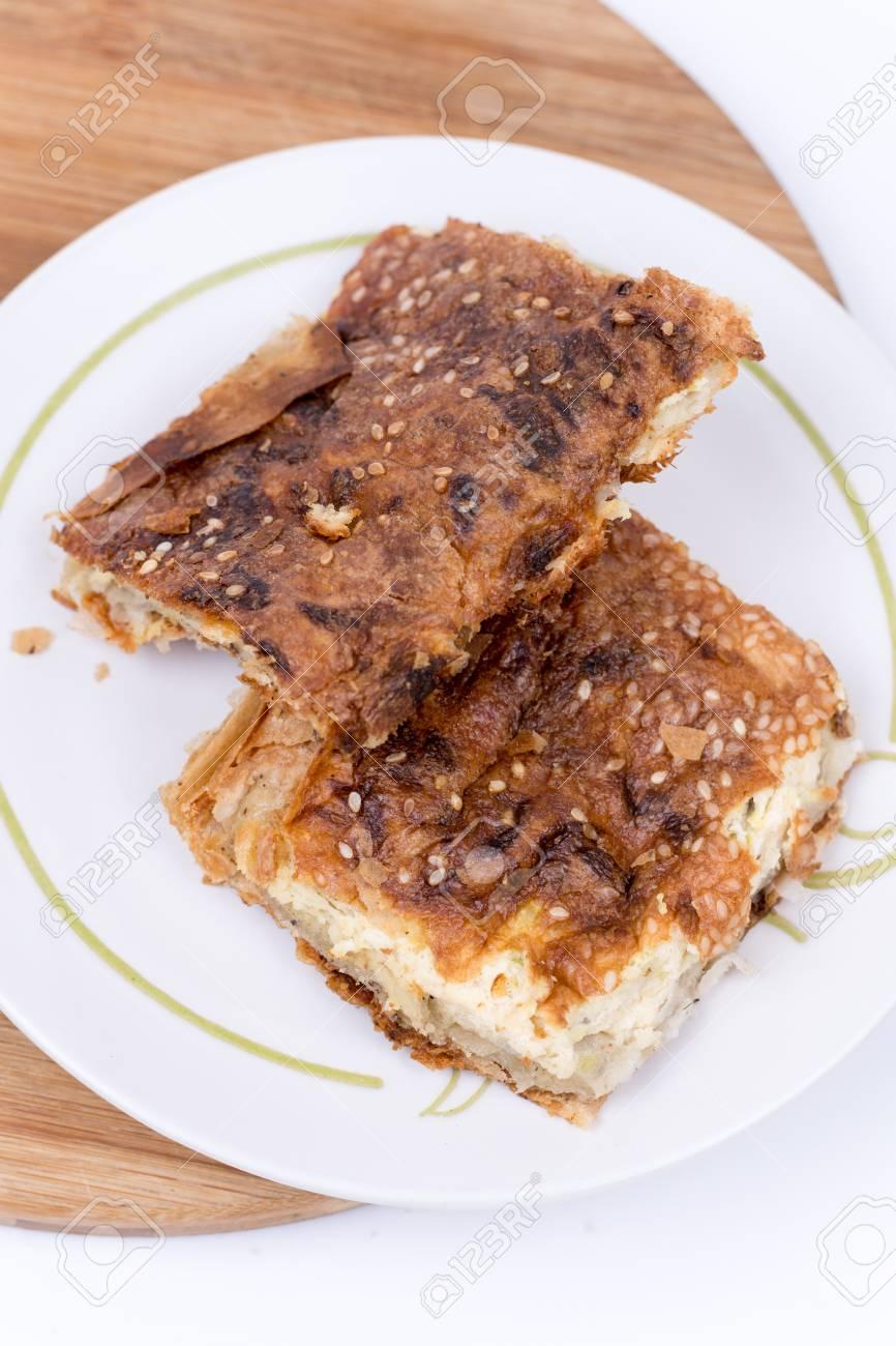 Flache Lage Buchweizen Mehl Diat Kuchen Gesund Lizenzfreie Fotos