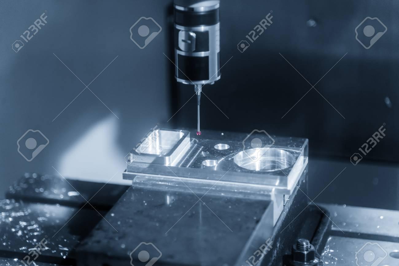 The Coordinate Measuring Machine ,CMM prob measure the sample