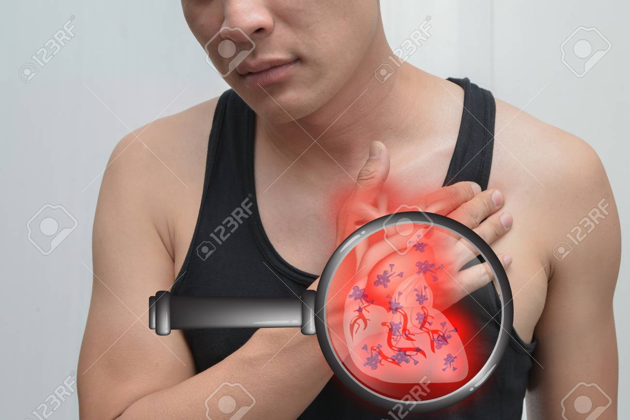 Man Heart Ache And Heart Image The Concept Is Easy To Understand Stock Photo Picture And Royalty Free Image Image 74764236