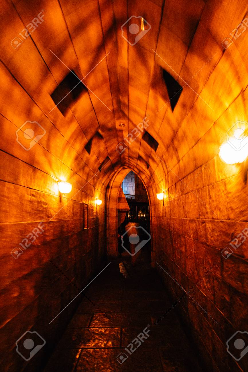 A Hallway In The Hogwarts Castle Stock Photo Picture And Royalty
