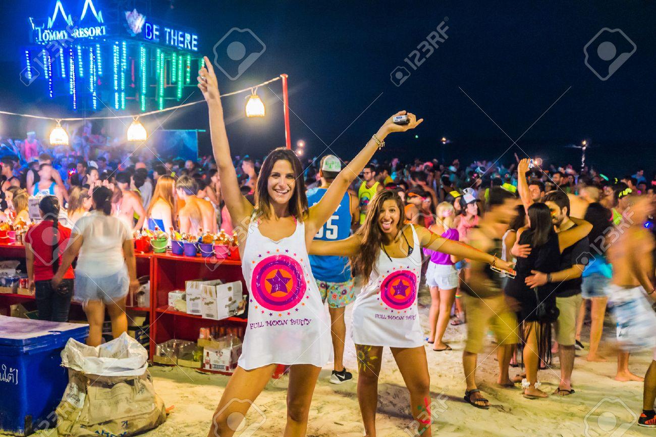 Koh Phangan Thailand October 8 2014 The Full Moon Party Stock