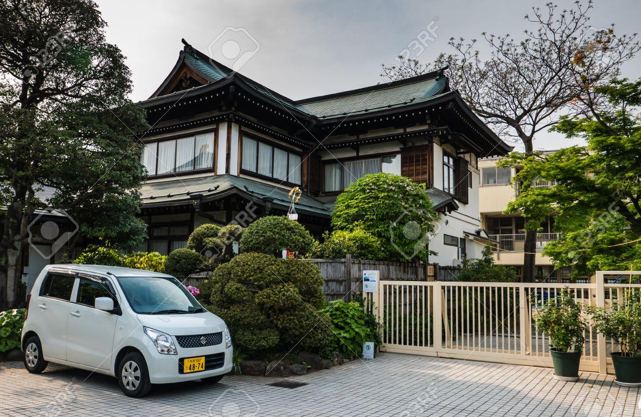 kawagoe, japan - may 1, 2016: japanese style house in kawagoe