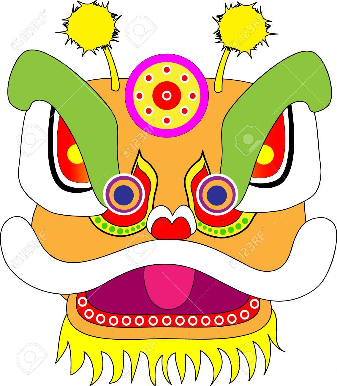 Lion Dancing Clipart Lion Dance Lion Head Chinese