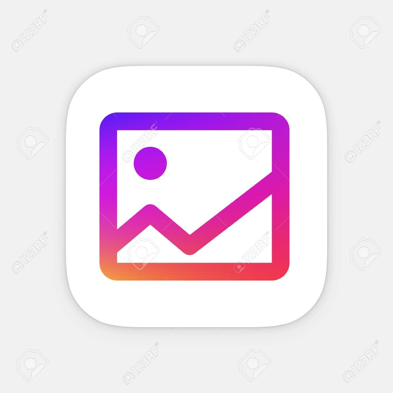 Imagen App Plantilla Icono. Icono De La Aplicación Móvil. Vector ...