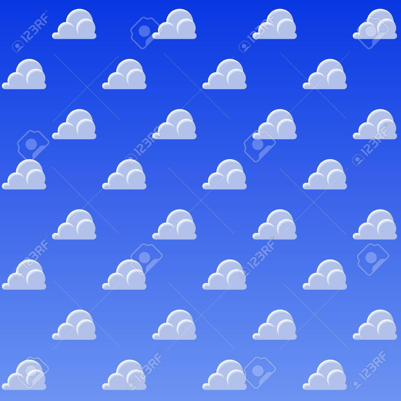 Fundo Do Teste Padrao Das Nuvens Dos Desenhos Animados Ceu Azul