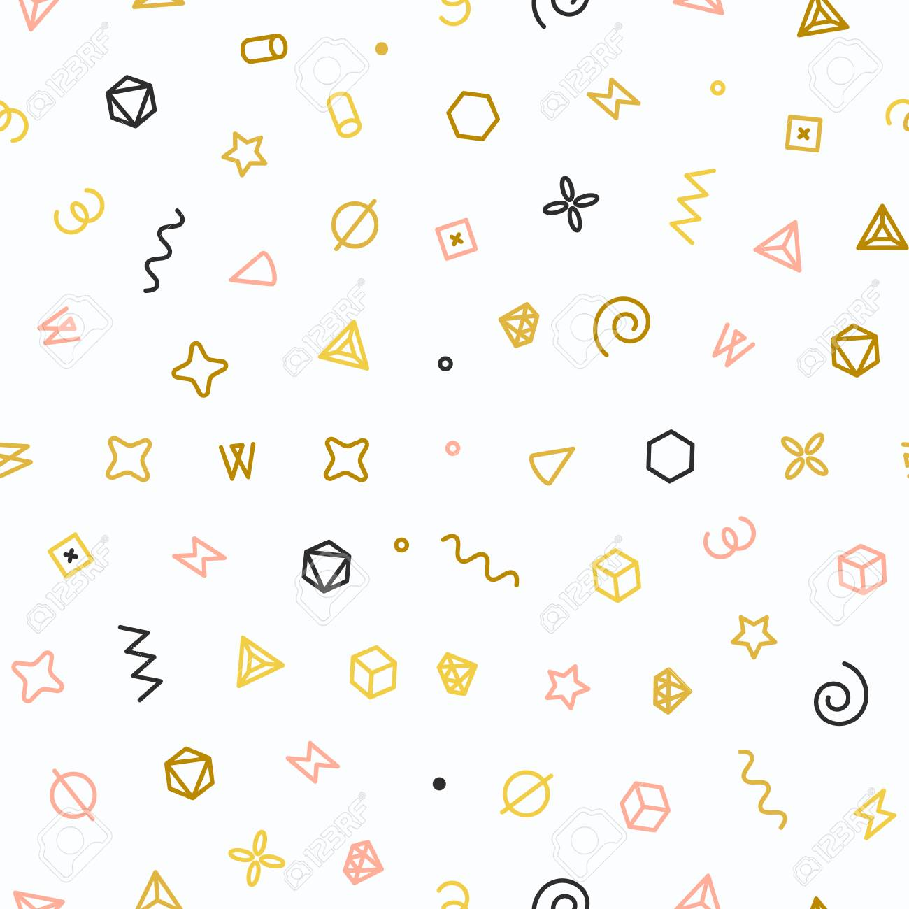 Geometrische Formen Nahtlose Muster Gold Muster Für Mode Und