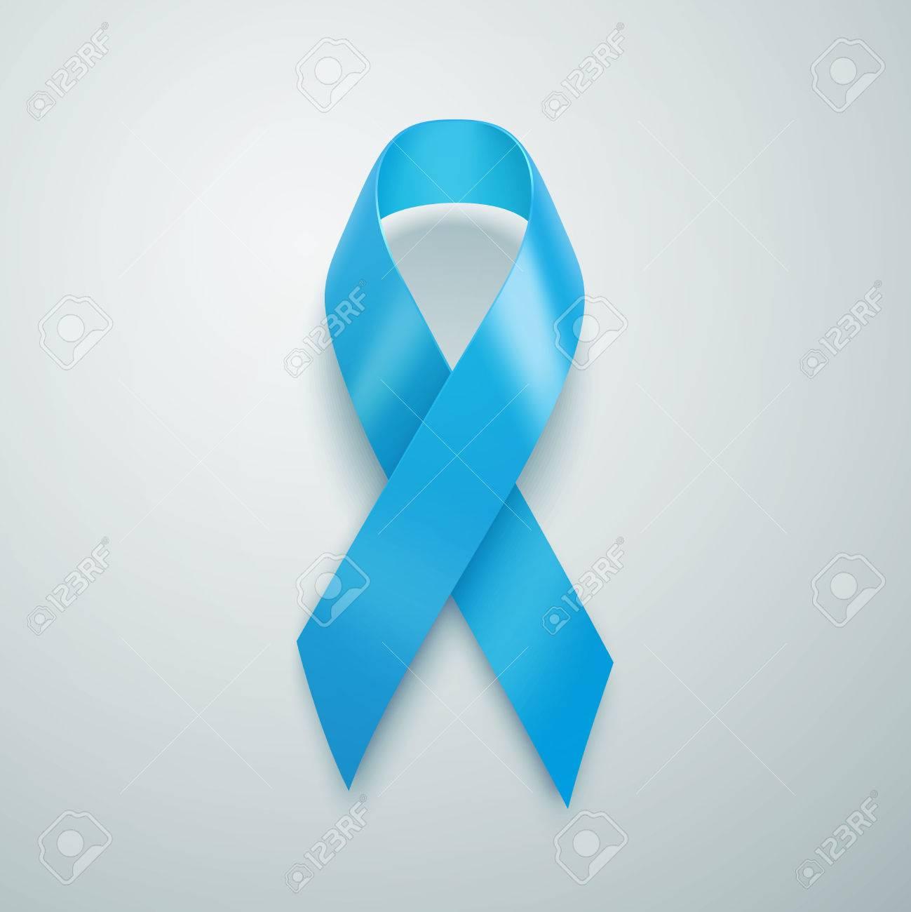 fd1eb5303e1 Realistic Blue Ribbon. World Prostate Cancer Day concept. Illustration...