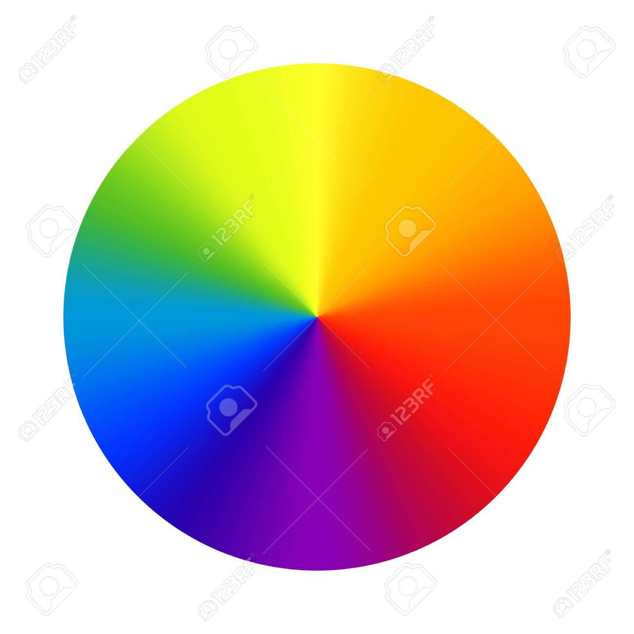 Color wheel palette. RGB, RYB, CYMK system. Color harmony. Vector Illustration. - 142029497