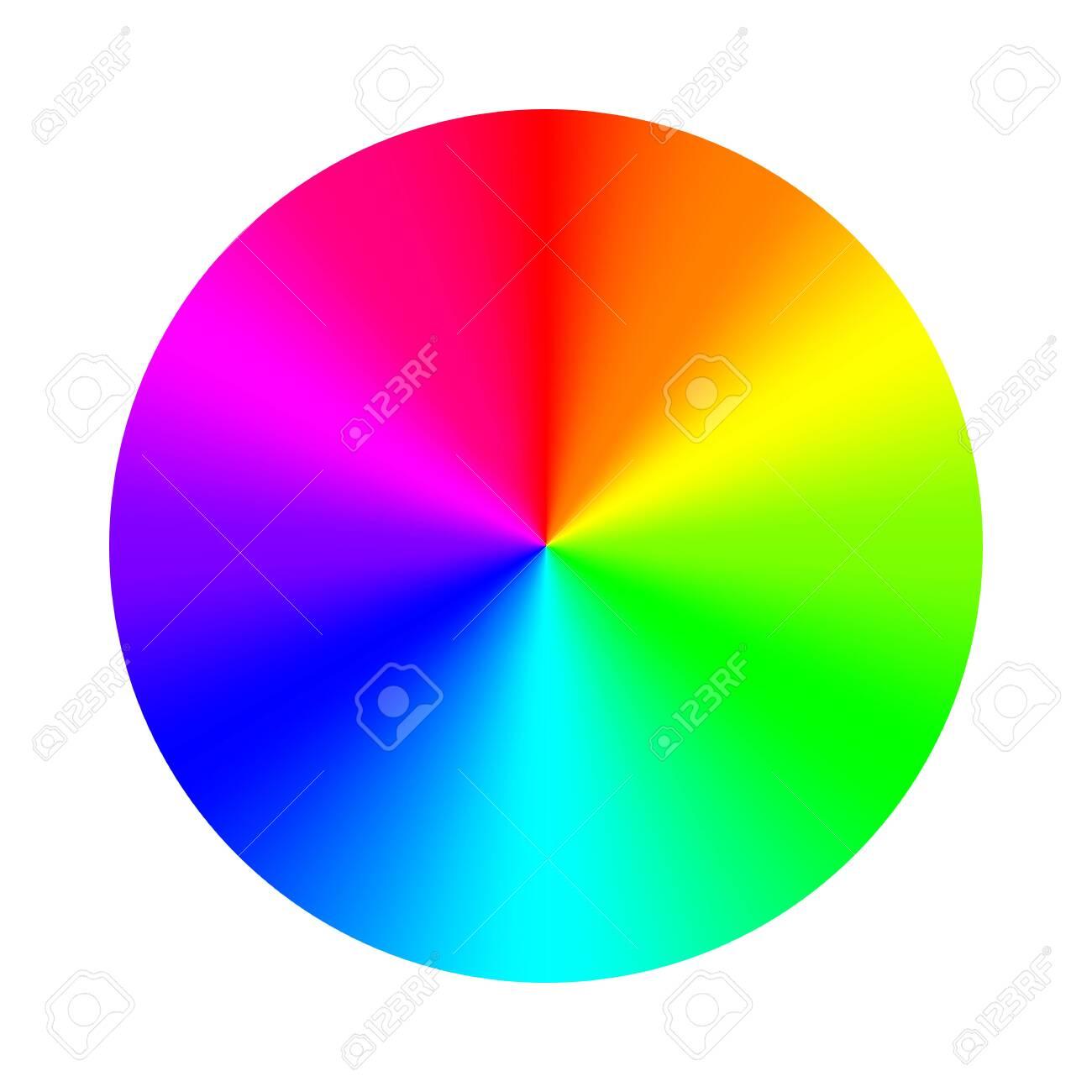 Color wheel palette. RGB, RYB, CYMK system. Color harmony. Vector Illustration. - 142029542