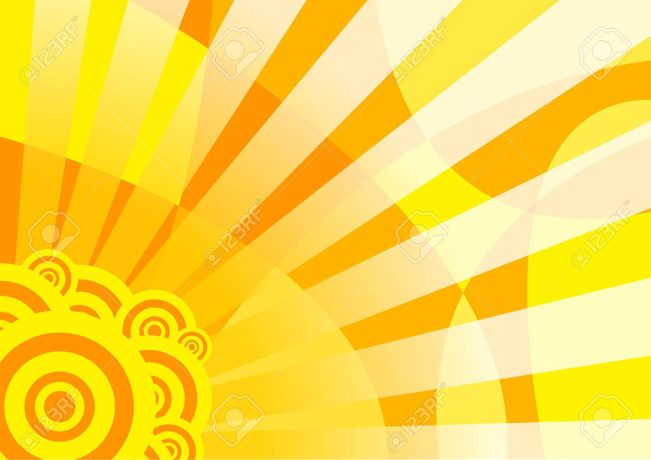 Orange solar summer banner; clip-art Stock Vector - 5076014