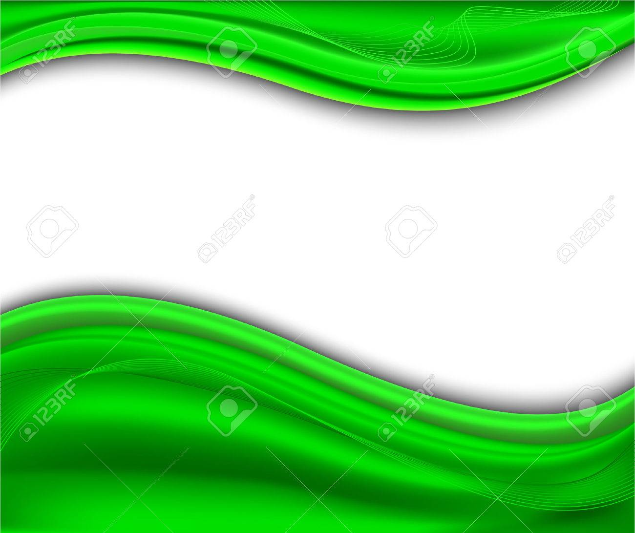 Abstract green background - wave; clip-art Stock Vector - 6378677