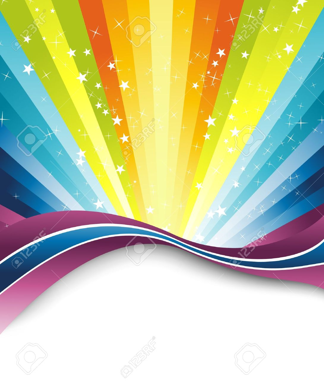 colorful rainbow banner template illustration royalty free cliparts